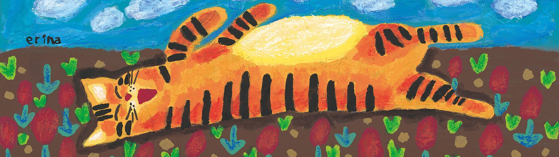 「猫の足あと」ギャラリー :: 山下絵理奈 猫の絵ギャラリー